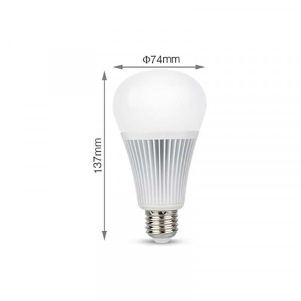 Ampoule LED E27 RGB +CCT 9W pilotable éclairage 75W