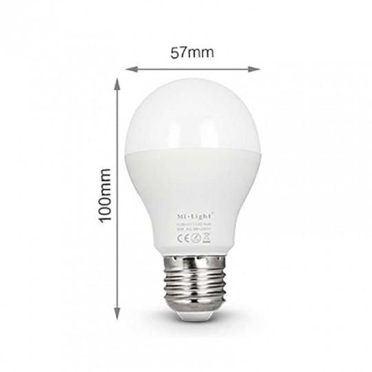 Ampoule LED E27 RGB +CCT 6W pilotable éclairage 40W
