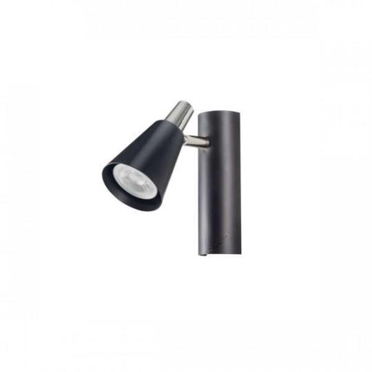 Applique Saillie, murale pour 1 ampoule GU10 - Noir