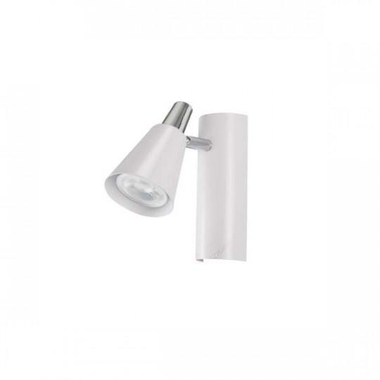 Applique Murale, saillie pour 1 ampoule GU10 - Blanc