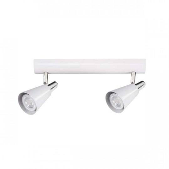 Applique Murale, saillie pour 2 ampoules GU10 - Blanc