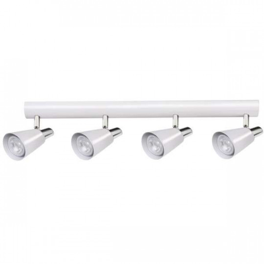Applique Murale, saillie pour 4 ampoules GU10 - Blanc