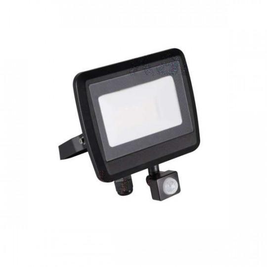 Projecteur LED à Détecteur 30W Noir étanche IP44 2400lm (240W) - Blanc Naturel 4000K