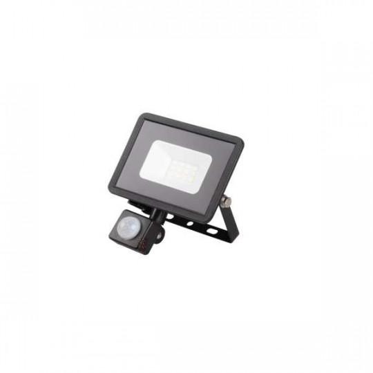 Projecteur LED à Détecteur 10W Noir étanche IP44 700lm (80W) - Blanc Naturel 4000K