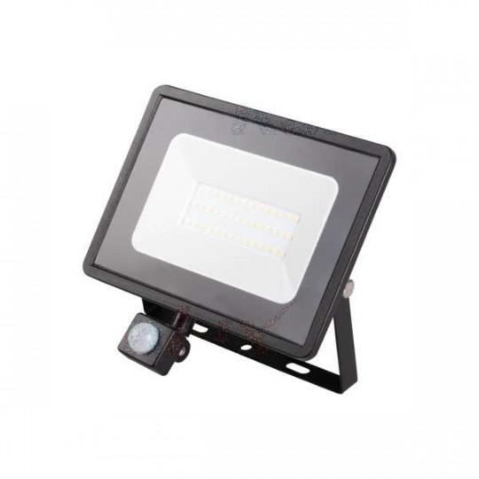 Projecteur LED à Détecteur 30W Noir étanche IP44 2300lm (240W) - Blanc Naturel 4000K