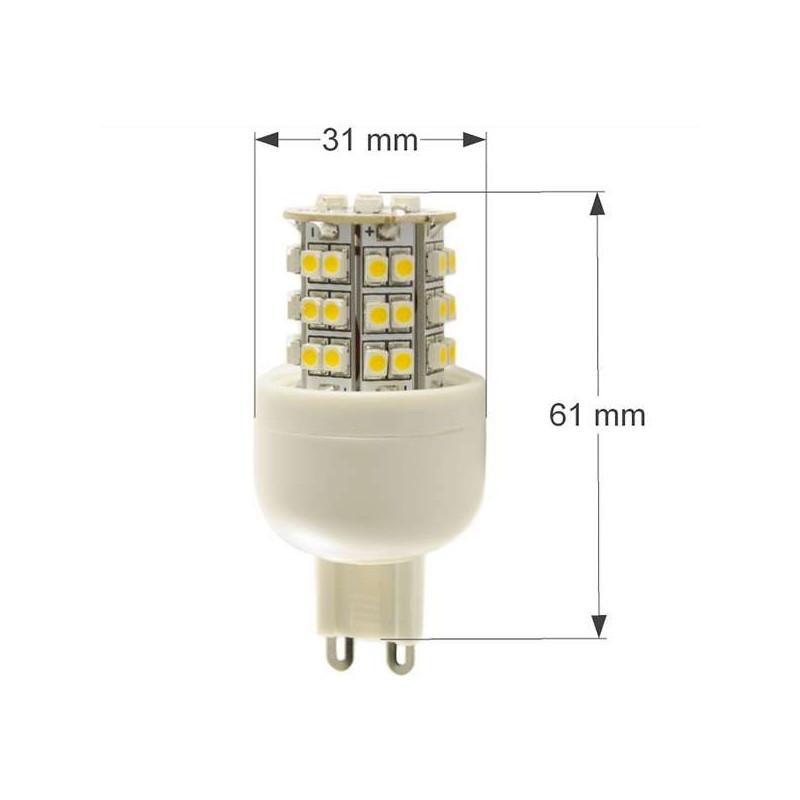 Ampoule LED G9 3,6W 300lm 360° 2700K AC220V
