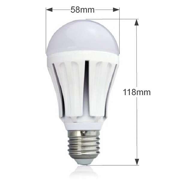 Lot de 5 Ampoules LED E27 7W 550lm forme A60
