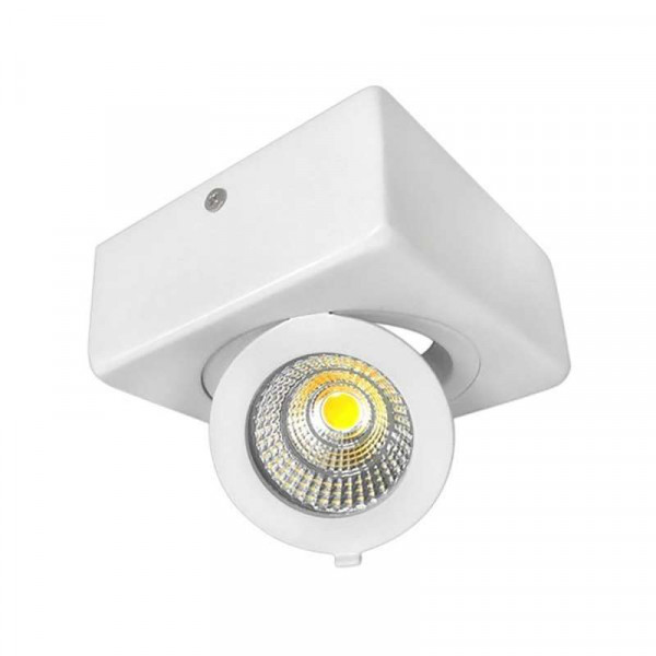 Plafonnier LED en Saillie 12W Carré Orientable