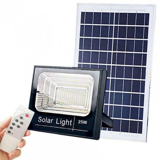 Projecteur LED Solaire 60W 1200Lm 6000K 6,4V/11Ah