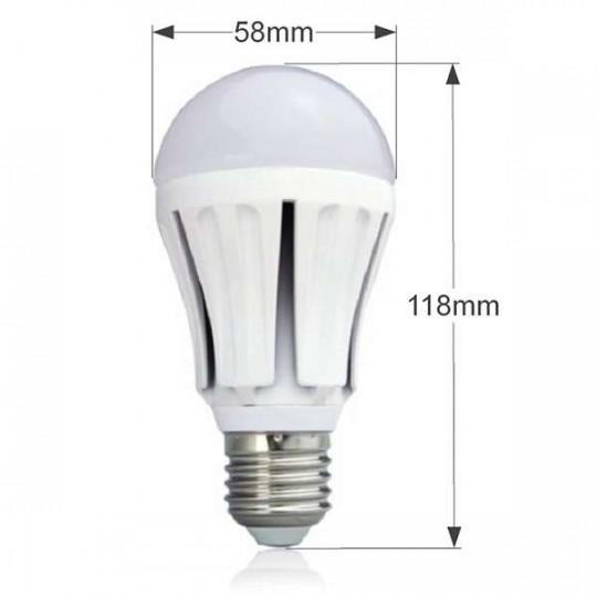 Ampoule LED E27 7W Ronde éclairage 60W