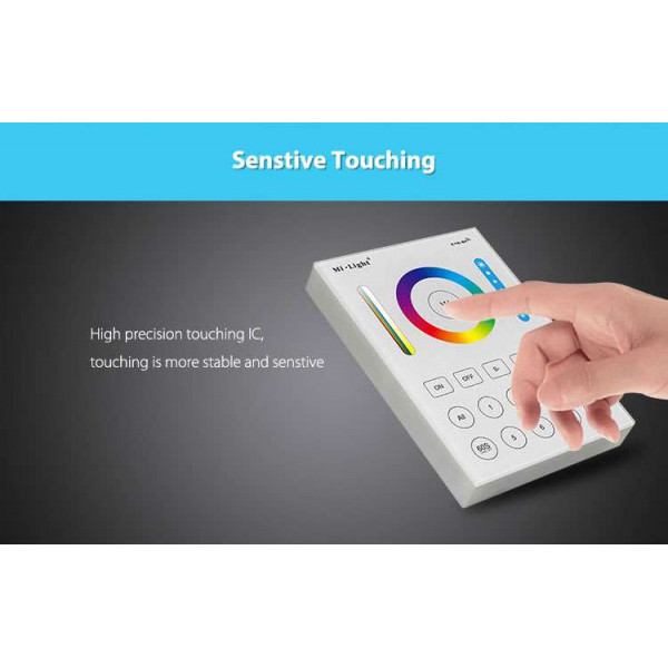 Contrôleur LED RGB+CCT tactile sans fil 8 zones