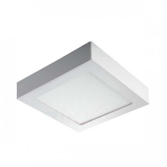 Downlight LED 12W carré Blanc - Blanc Naturel 4000K