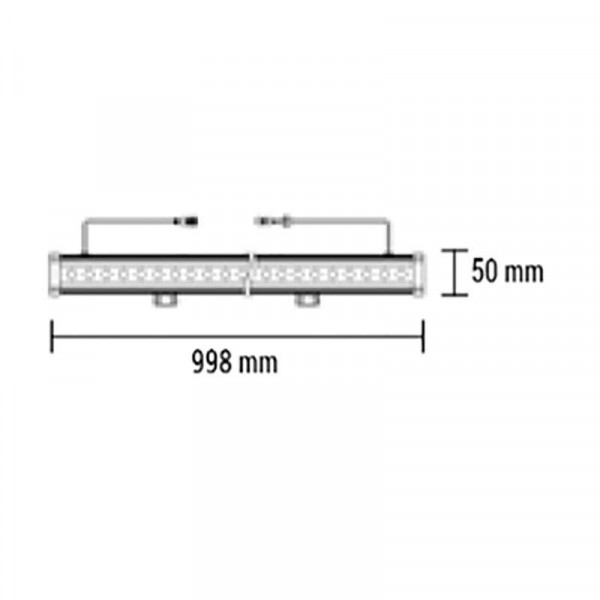 Barre LED de 1m Wall Washer 36W IP65 2880lm