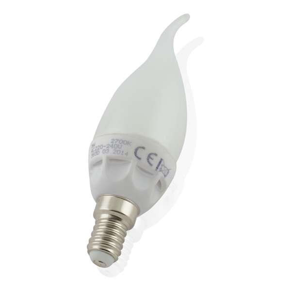 Ampoule LED E14 6W Flamme Coup de Vent Équivalent 40W - Blanc Chaud 2700K