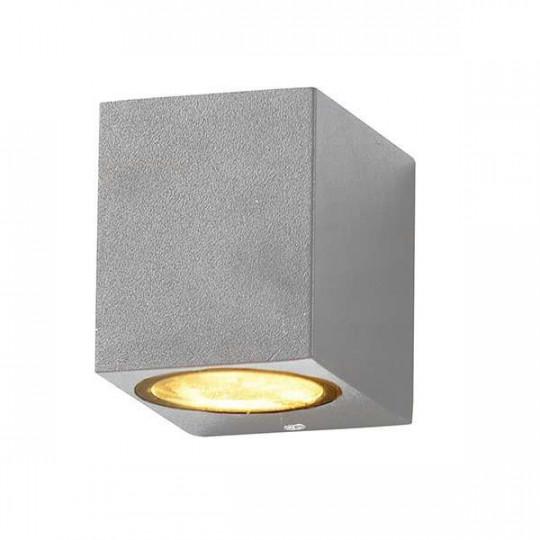 Applique Carrée Spot GU10 Aluminium Grise