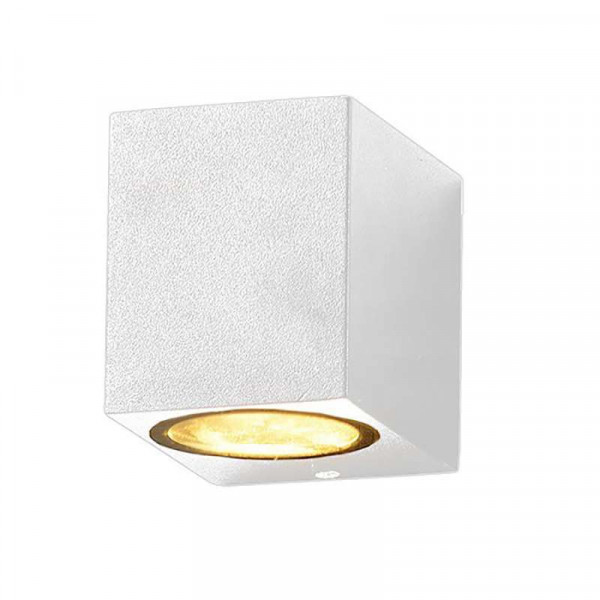 Applique Carrée Spot GU10 Aluminium Blanche
