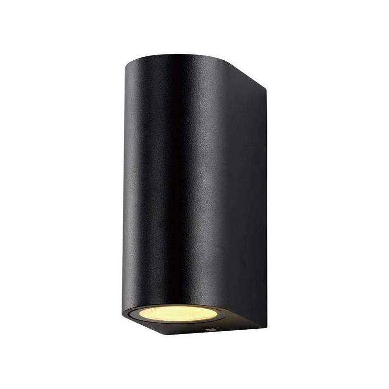 Applique Ronde Spot 2xGU10 Aluminium Noir