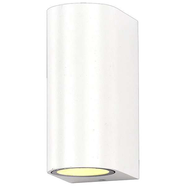 Applique Ronde Spot 2xGU10 Aluminium Blanche