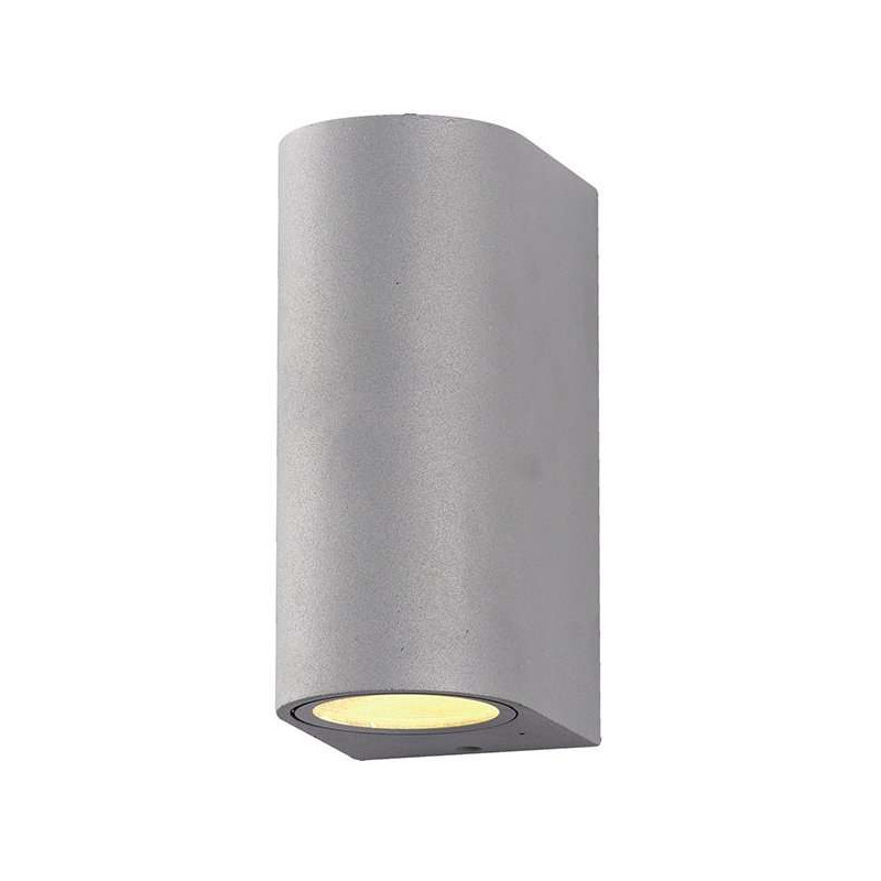 Applique Ronde Spot 2xGU10 Aluminium Grise
