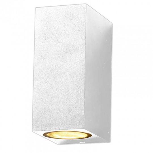 Applique Carrée Spot 2xGU10 Aluminium Blanche