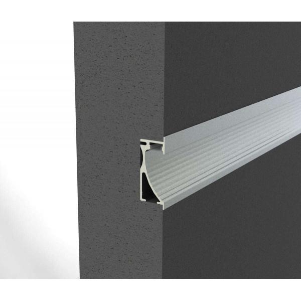 Profilé aluminium LED encastrable mural ALU-WALL