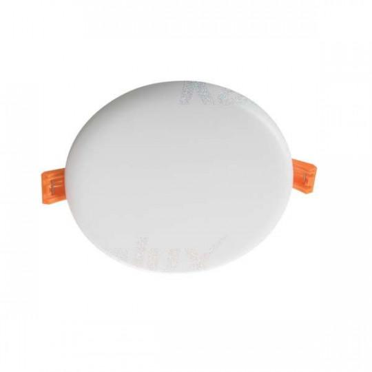 Downlight LED 10W rond ∅126mm Blanc - Blanc Chaud 3000K