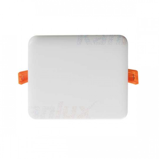 Downlight LED 10W carré Blanc - Blanc Chaud 3000K