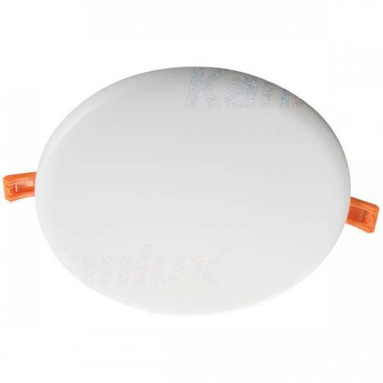 Downlight LED 20W rond ∅186mm Blanc - Blanc Chaud 3000K