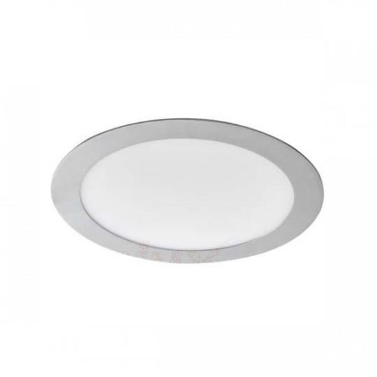 Downlight LED 18W étanche IP44 rond ∅220mm Argent - Blanc Naturel 4000K