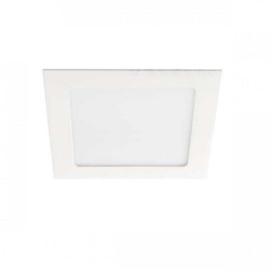 Downlight LED 12W étanche IP44 carré Blanc - Blanc Naturel 4000K