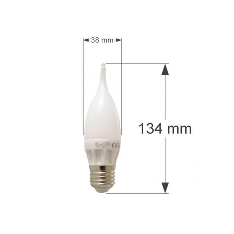 Ampoule LED E27 Flamme C30 coup de vent 5W 400lm 270° Blanc Chaud 2700K