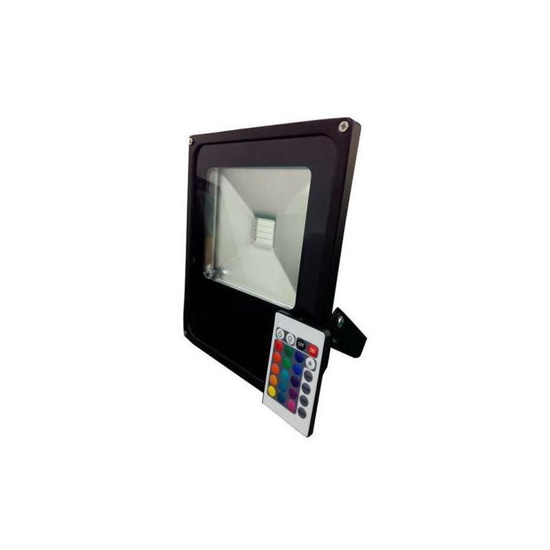 Projecteur LED RGB 30W avec télécommande lumière 150W RadioFréquence
