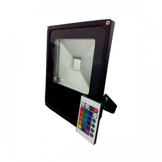 Projecteur LED RGB 50W avec télécommande RadioFréquence éclairage 250W