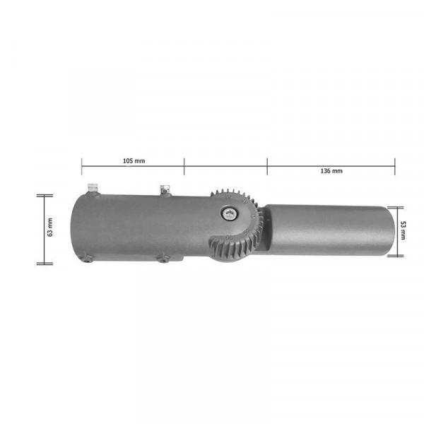 Support réglable 90° pour luminaire LED Urbain 60mm