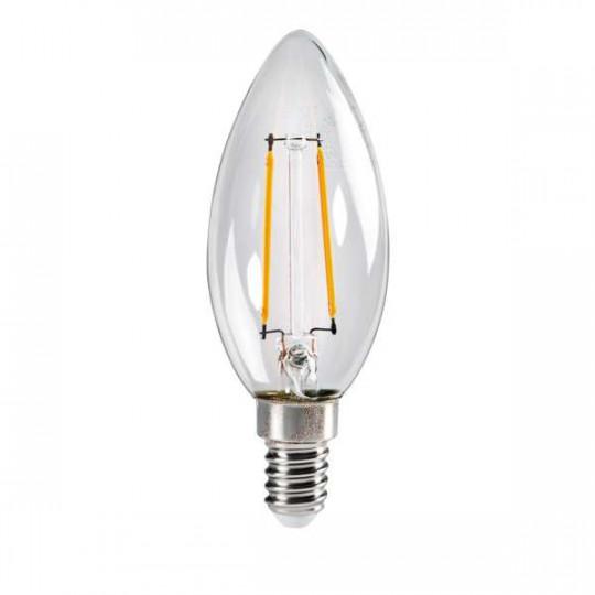 Ampoule LED E14 2,5W C35 équivalent à 25W - Blanc Chaud 2700K