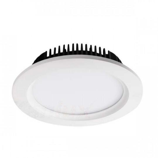 Downlight LED 24W étanche IP44 rond ∅195mm Blanc - Blanc Naturel 4000K