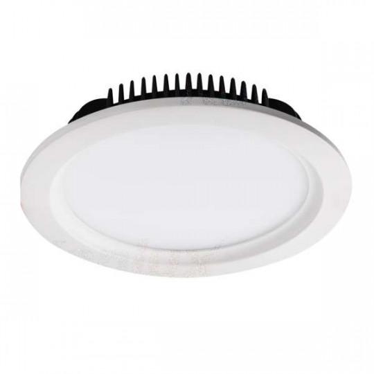 Downlight LED 36W étanche IP44 rond ∅230mm Blanc - Blanc Naturel 4000K