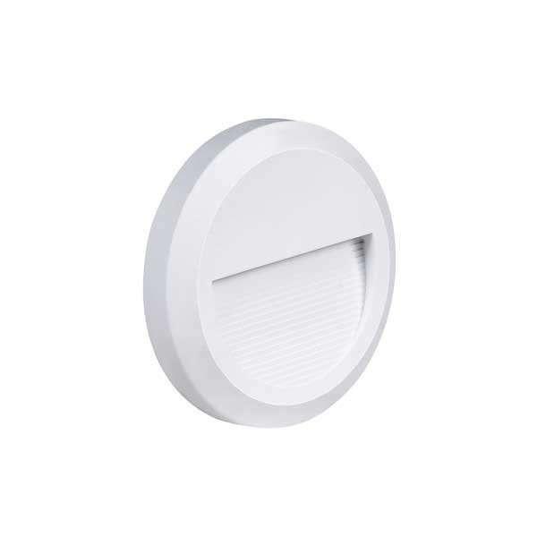 Applique 2W Encastrable LED Extérieure étanche Ronde Blanche