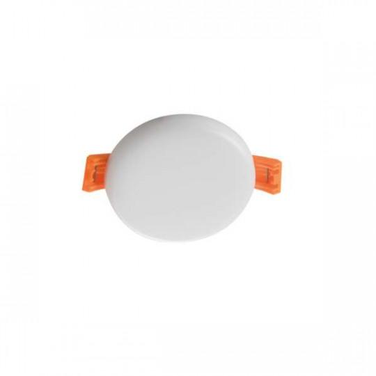 Downlight LED 6W rond ∅75mm Blanc - Blanc Chaud 3000K