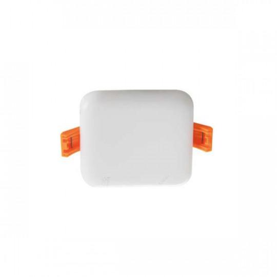 Downlight LED 6W carré Blanc - Blanc Chaud 3000K