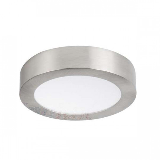 Downlight LED 12W rond ∅170mm Nickel satiné - Blanc Naturel 4000K