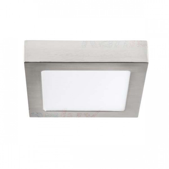 Downlight LED 12W carré Nickel satiné - Blanc Naturel 4000K