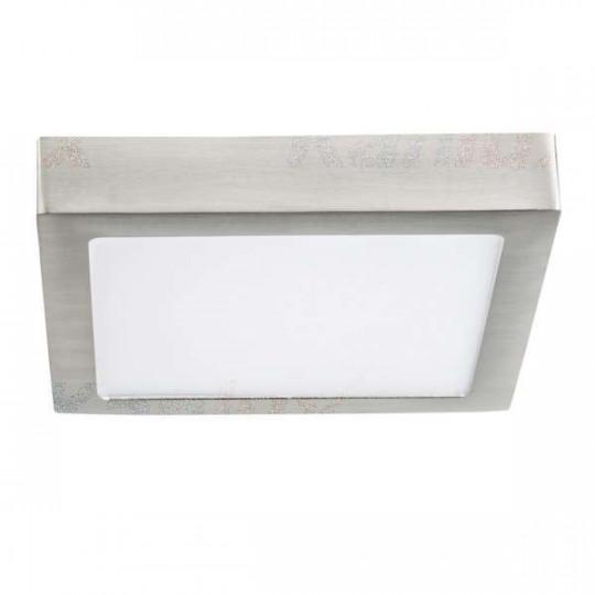 Downlight LED 18W carré Nickel satiné - Blanc Naturel 4000K