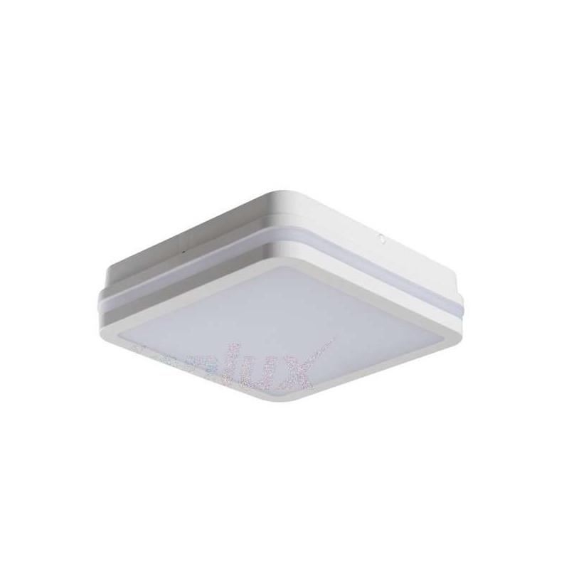 Plafonnier LED 18W étanche IP54 carré...