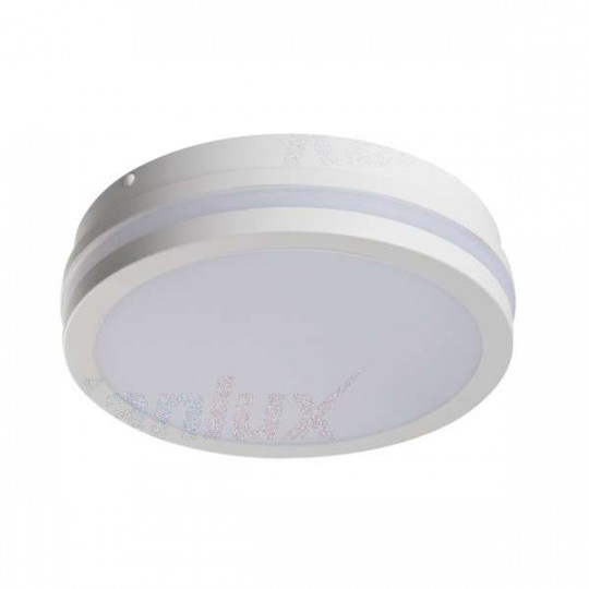 Plafonnier LED 18W à détecteur étanche IP54 rond ∅220mm Blanc - Blanc Naturel 4000K