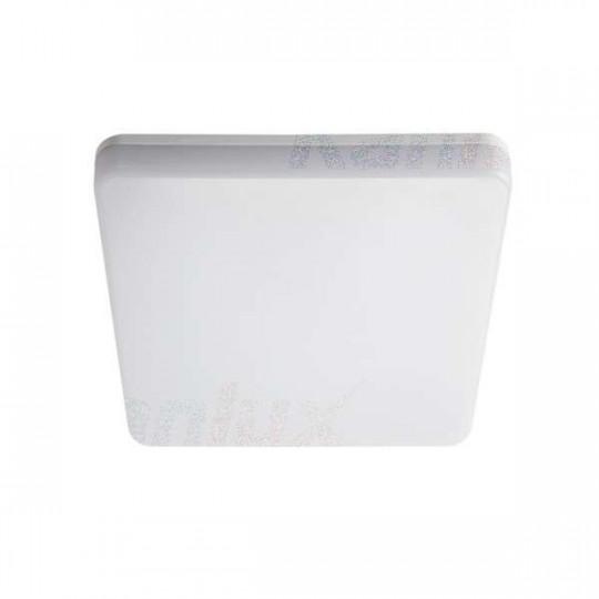Plafonnier LED 18W étanche IP54 carré côté 278mm Blanc - Blanc Naturel 4000K