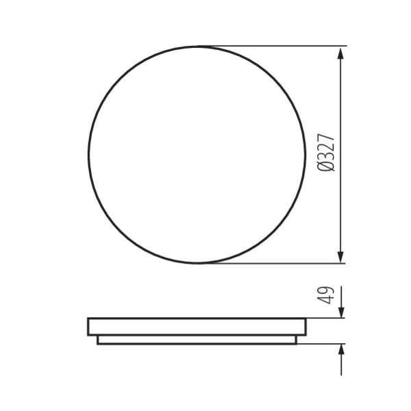 Plafonnier LED 24W étanche IP54 rond ∅327mm Blanc - Blanc Chaud 3000K