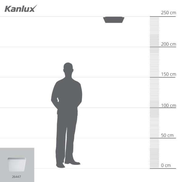 Plafonnier LED 24W étanche IP54 carré côté 327mm Blanc - Blanc Naturel 4000K