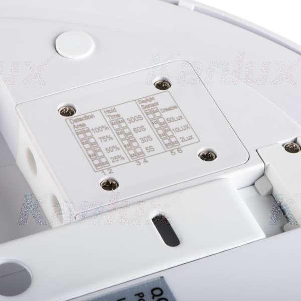 Plafonnier LED 24W à détecteur étanche IP54 rond ∅288mm Blanc - Blanc Naturel 4000K