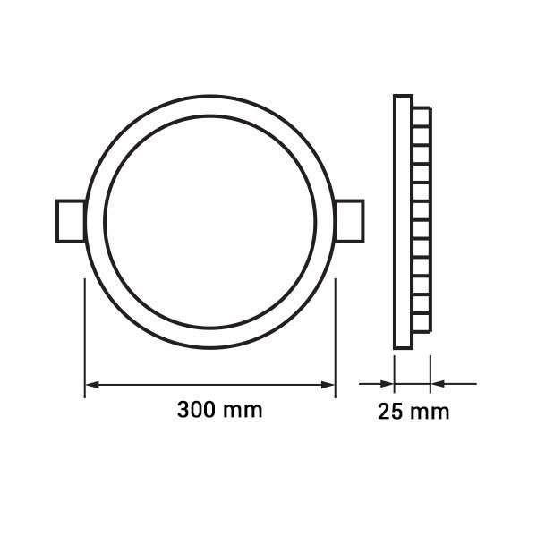 Plafonnier led Rond 24W extra plat (eq 200W) perçage 280mm